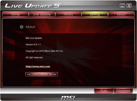 Msi Live Update 6 скачать на русском